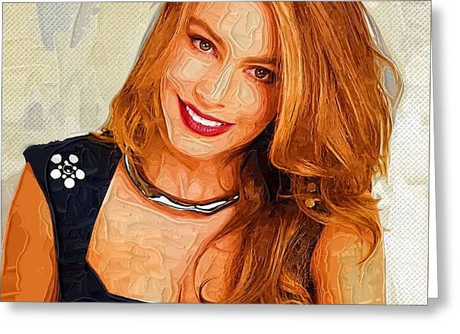 Actress Sofia Vergara  Greeting Card