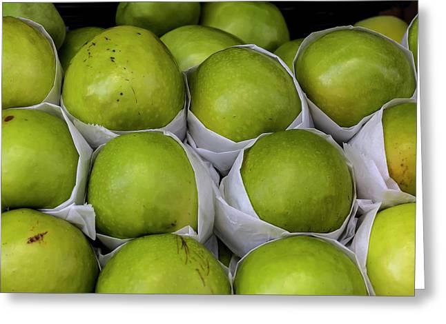 Apples Greeting Card by Robert Ullmann