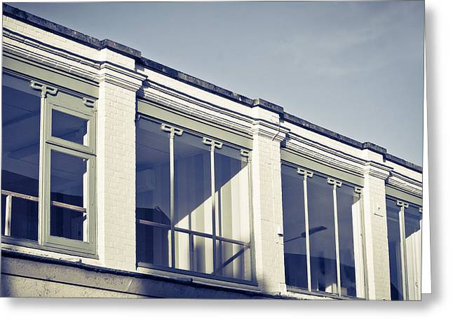 Building Exterior Greeting Card by Tom Gowanlock
