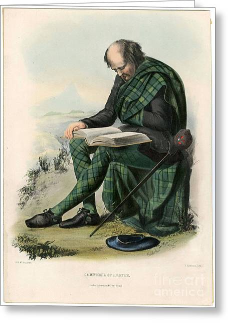 Clans Of The Scottish Highlands 1847 Greeting Card