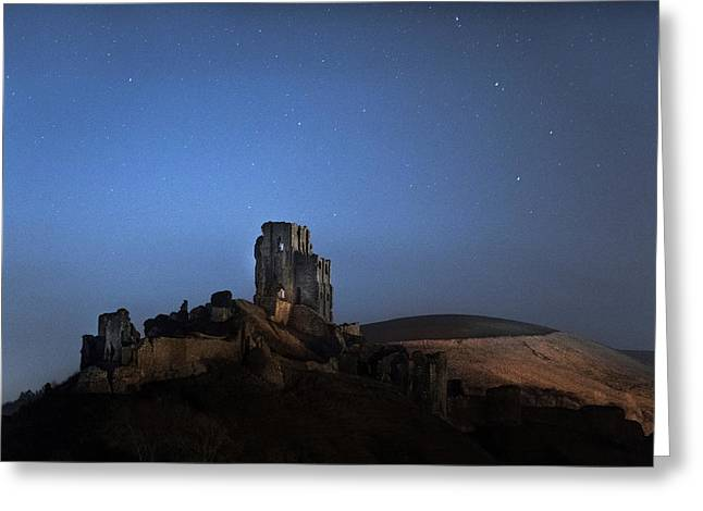 Corfe Castle - England Greeting Card