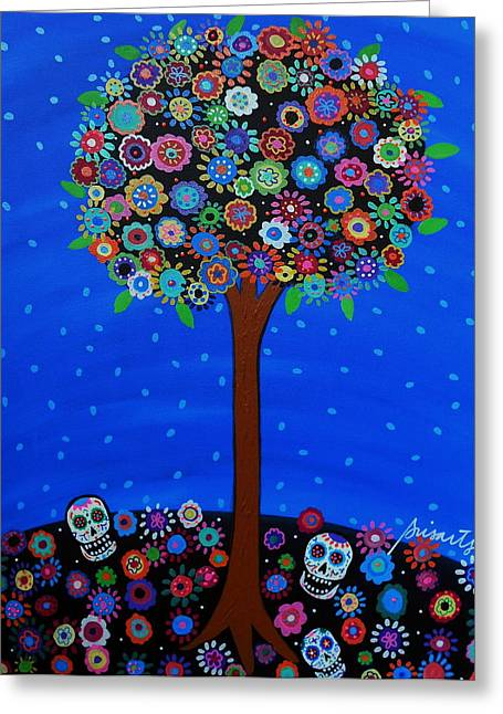 Turkus Greeting Cards - Day Of The Dead Greeting Card by Pristine Cartera Turkus