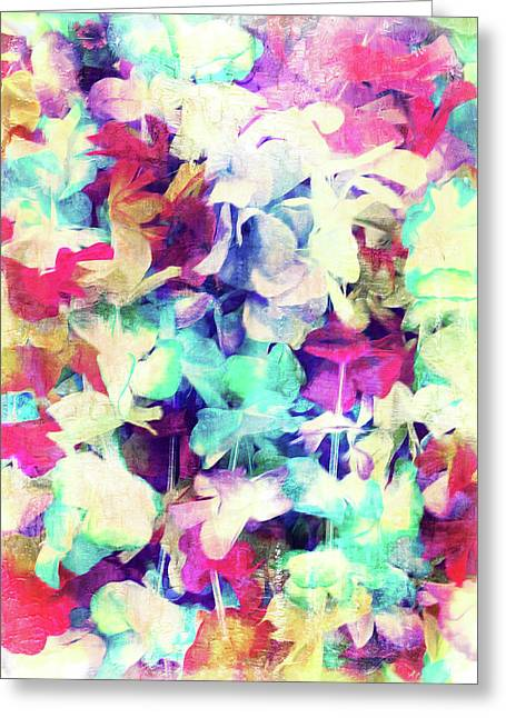 Digital Abstract Painting Greeting Card by Tom Gowanlock