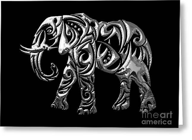 Elephant Collection Greeting Card by Marvin Blaine