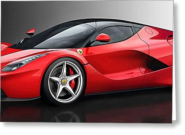 Ferrari Laferrari Greeting Card by Marvin Blaine