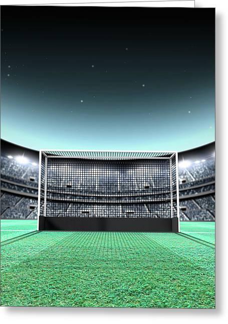 Floodlit Stadium Night Greeting Card