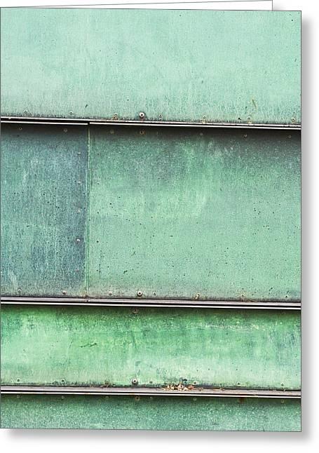 Green Metal Greeting Card
