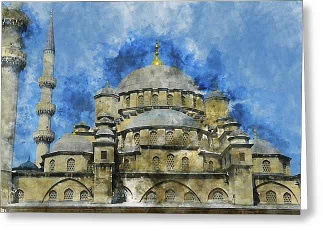 Hagia Sophia In Istanbul Turkey Greeting Card by Brandon Bourdages