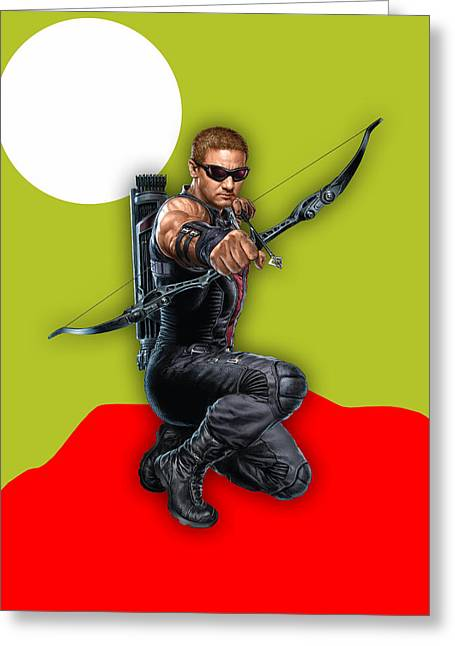 Hawkeye Collection Greeting Card by Marvin Blaine