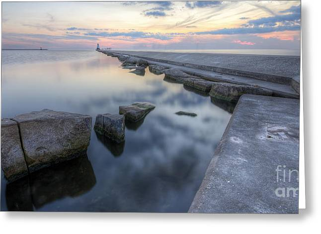 Ludington Beach Greeting Card by Twenty Two North Photography