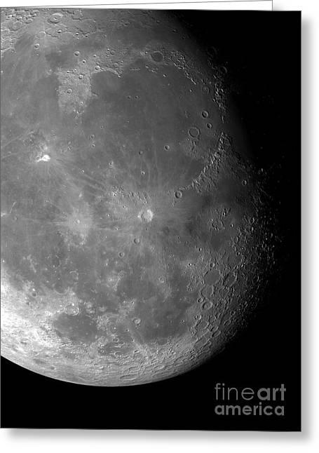 Moons Surface Greeting Card by Detlev van Ravenswaay