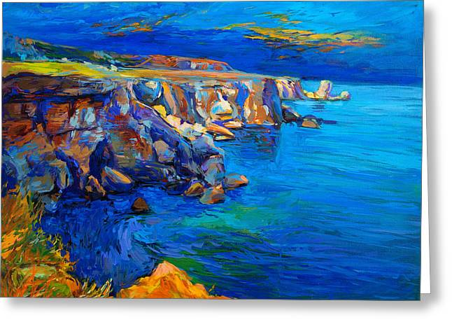 Ocean And Cliffs By Ivailo Nikolov Greeting Card by Boyan Dimitrov