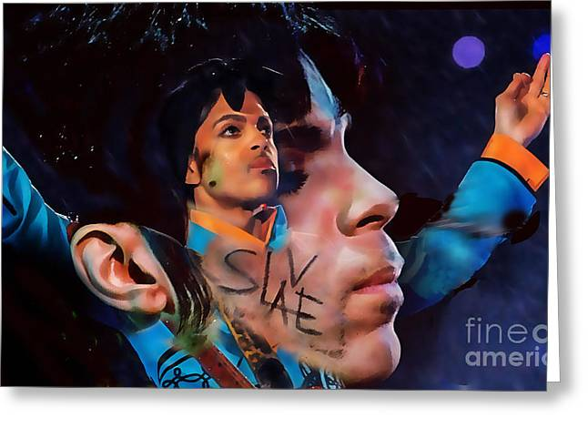 Prince Tribute Greeting Card by Marvin Blaine