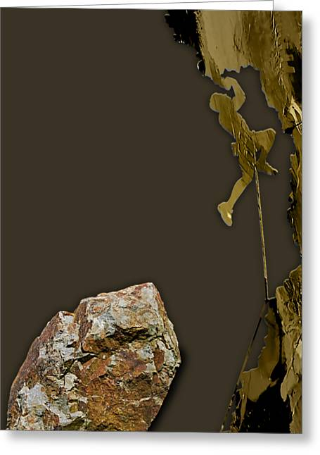 Rock Climber Collection Greeting Card by Marvin Blaine