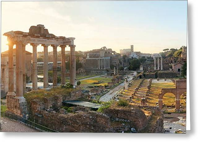 Rome Forum  Greeting Card by Songquan Deng