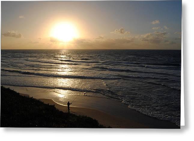 Sunset At Jaffa Beach 5 Greeting Card