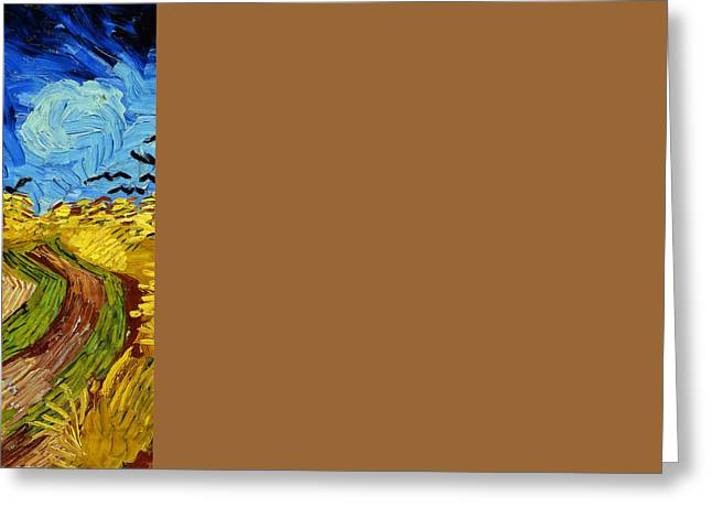 Wheatfield With Crows Greeting Card