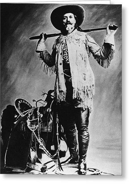 Frontiersman Greeting Cards - William F. Cody (1846-1917) Greeting Card by Granger