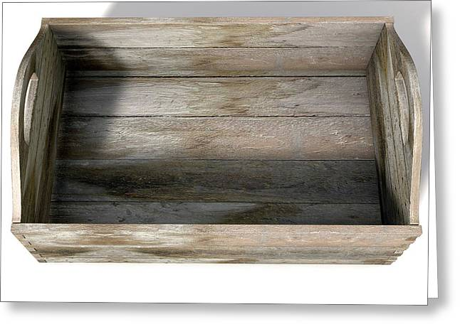 Wooden Carry Crate Greeting Card by Allan Swart