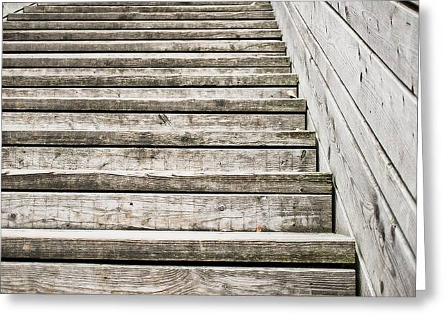 Wooden Steps Greeting Card