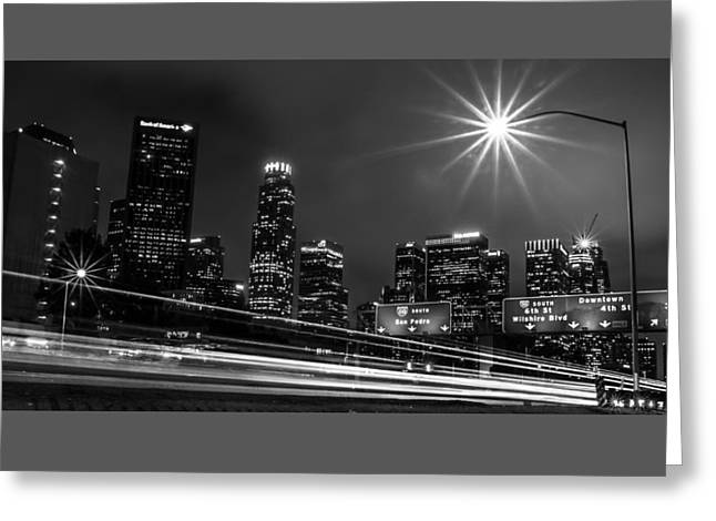 110 Freeway Los Angeles Greeting Card by April Reppucci