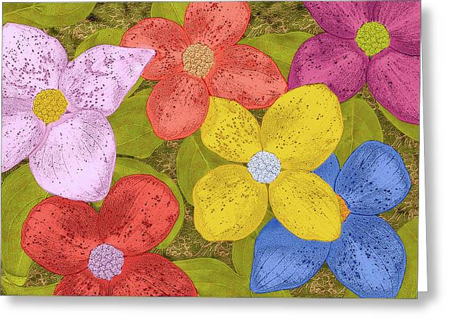 Simple Flowers Greeting Card