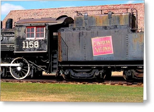 1158 Steam Train Greeting Card