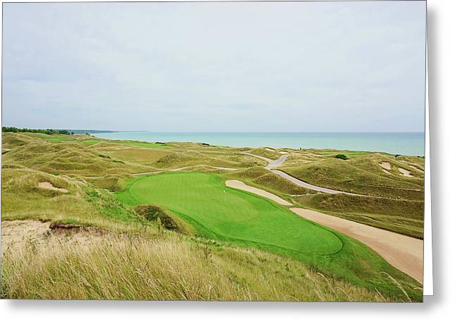 11th Green Par 3 Irish Course Greeting Card by Scott Pellegrin