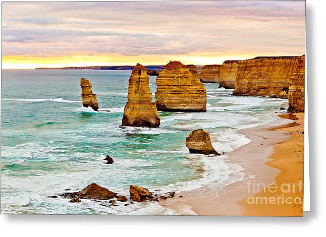 12 Apostles Greeting Card by Az Jackson