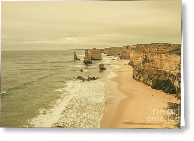 12 Apostles Morning Landscape Greeting Card by Jorgo Photography - Wall Art Gallery