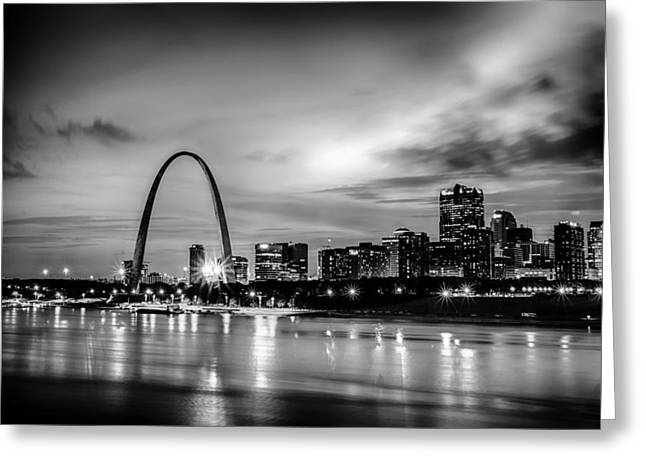 City Of St. Louis Skyline. Image Of St. Louis Downtown With Gate Greeting Card