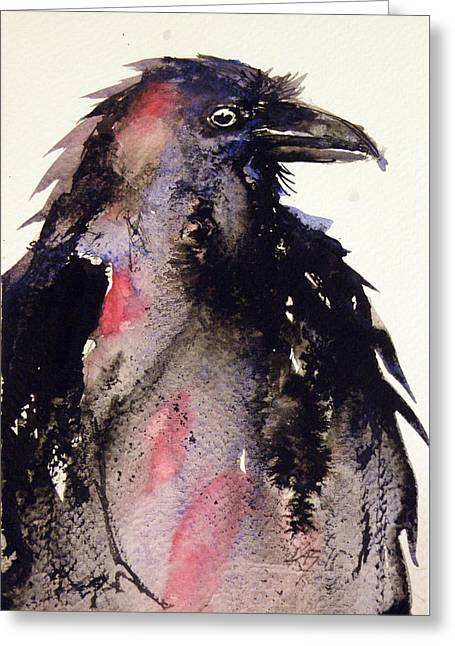 Crow Greeting Card by Kovacs Anna Brigitta