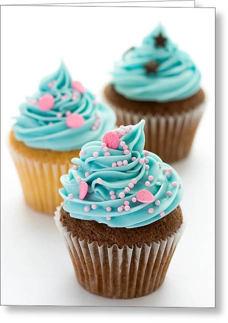 Party Food Greeting Cards - Cupcakes Greeting Card by Ruth Black