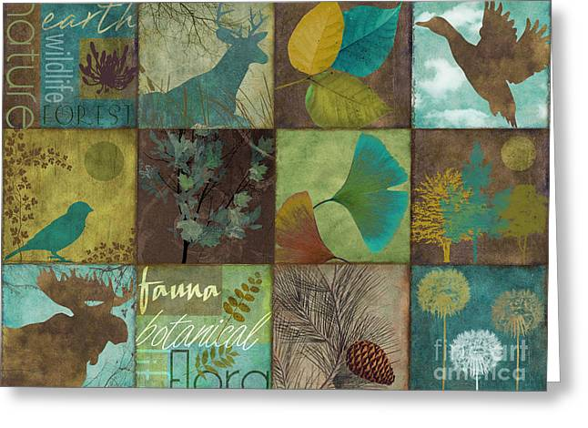 12 Days In The Woods Greeting Card by Mindy Sommers