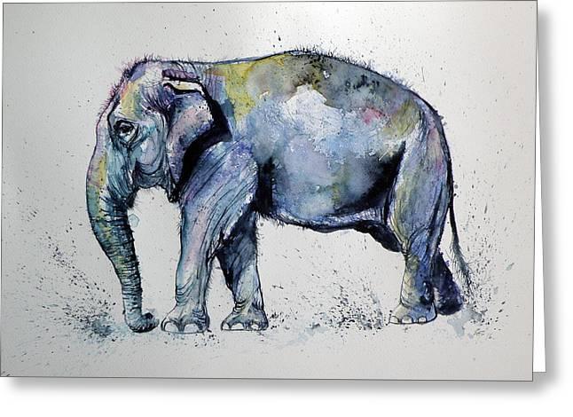 Elephant Greeting Card by Kovacs Anna Brigitta