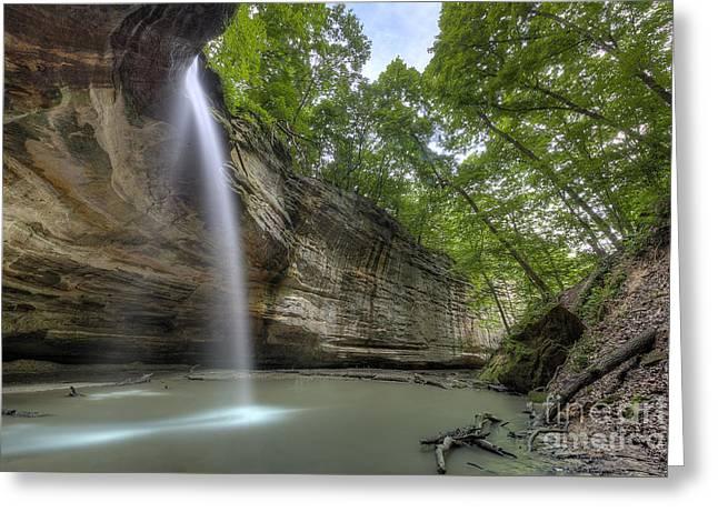Falls At Ottawa Canyon Greeting Card by Twenty Two North Photography