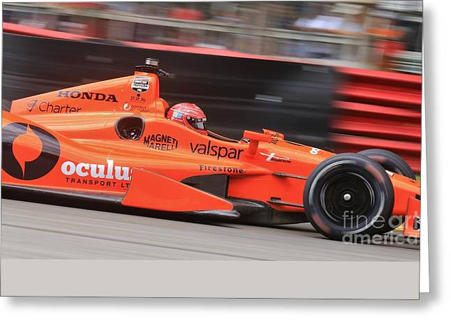 High Speed Indycar Greeting Card by Douglas Sacha
