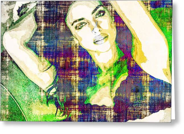 Irina Shayk Greeting Card by Svelby Art