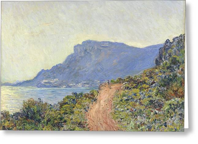 La Corniche Near Monaco Greeting Card by Claude Monet