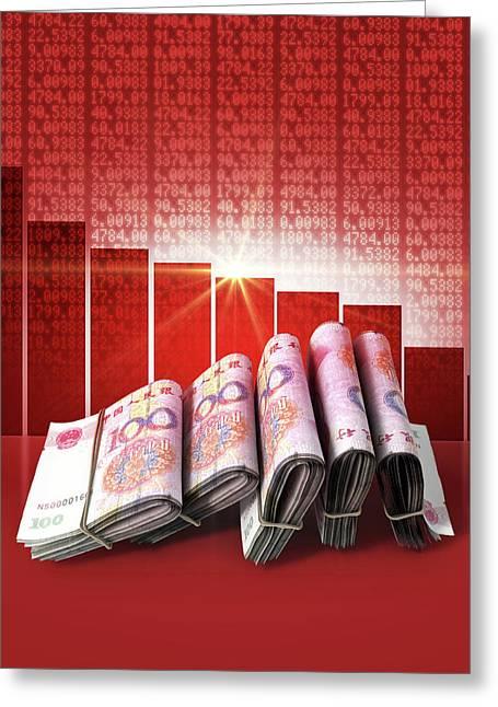 Negative Market Money Greeting Card by Allan Swart