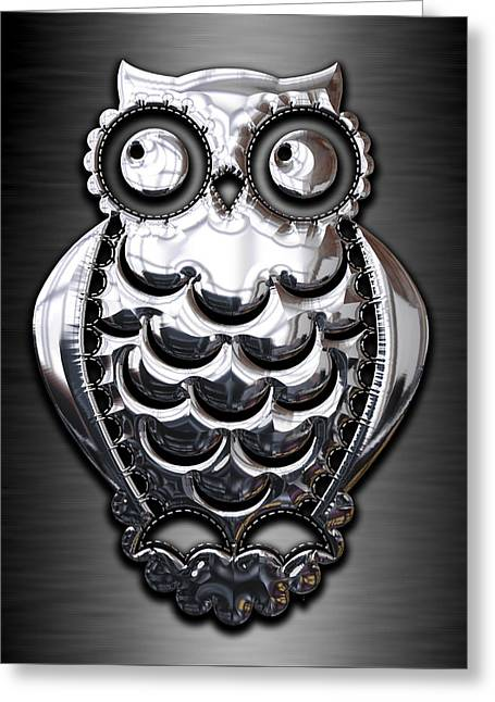 Owl Collection Greeting Card by Marvin Blaine