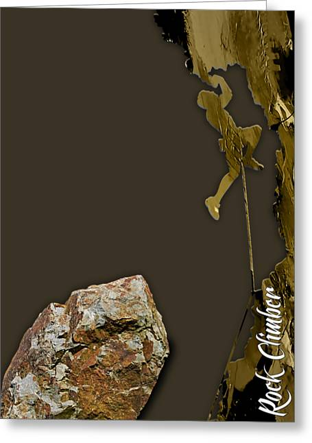 Rock Climber Collection Greeting Card