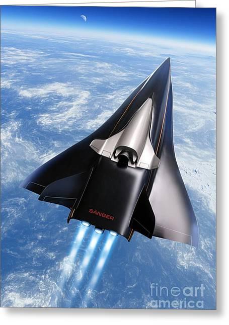 Saenger Horus Spaceplane, Artwork Greeting Card
