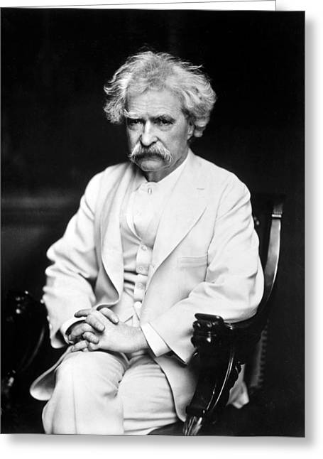 Samuel Greeting Cards - Samuel Langhorne Clemens Greeting Card by Granger
