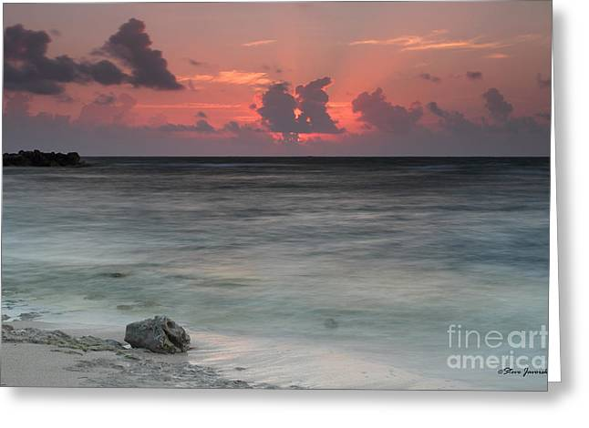 Sea Scape Sunrise Greeting Card