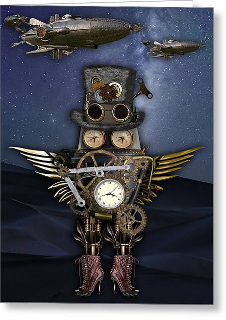 Steampunk Art Greeting Card
