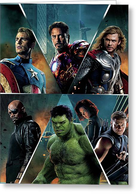 The Avengers 2012 Greeting Card