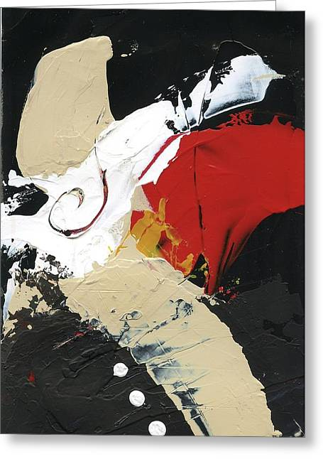 Three Color Palette Greeting Card by Michal Mitak Mahgerefteh