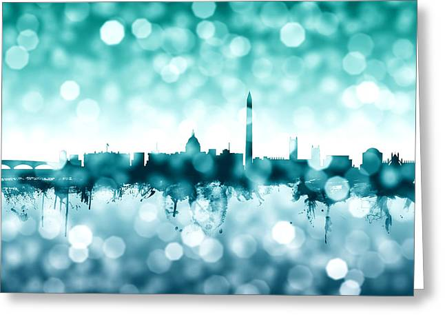 Washington Dc Skyline Greeting Card