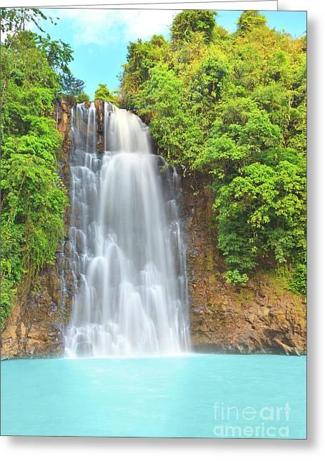 Bobla Greeting Cards - Waterfall Greeting Card by MotHaiBaPhoto Prints